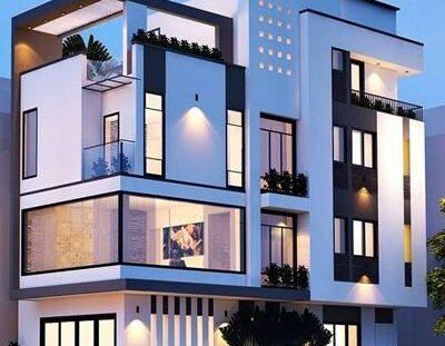 02 400x311 - Nhà phố 4 tầng 2 mặt tiền tại Kiến An - Hải Phòng