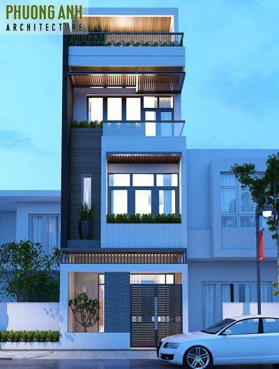Thiết kế nhà phố 4 tầng tại Hải Phòng (đường Dư Hàng Kênh)