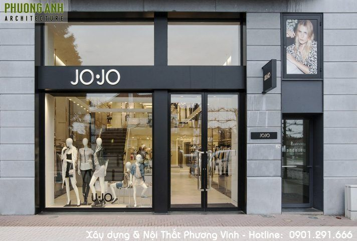 Mặt tiền cửa hàng quần áo nữ JoJo-Mat-tien-shop-quan-ao-dep