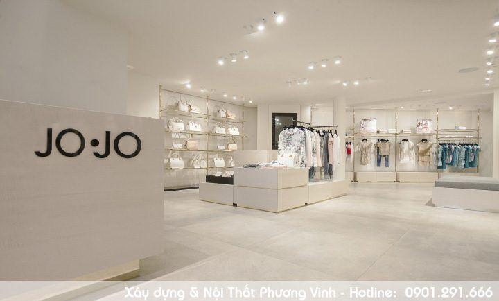 Gam màu chủ đạo là màu trắng thuần khiết tạo cảm giác dễ chịu cho khách hàng-mau-thiet-ke-shop-thoi-trang-jo-jo-hien-dai-tre-trung