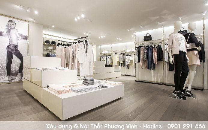 Thiết kế shop quần áo đẹp hiện đại được các bạn trẻ ưa thích