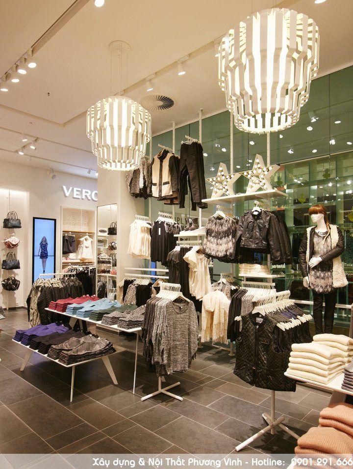 Lựa chọn phương án thiết kế nội thất shop quần áo