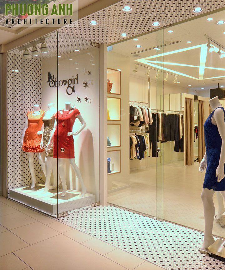 Nội thất thiết kế dựa theo nguyên tắc hài hòa giữa vật liệu và không gian để làm nổi bật các sản phẩm của shop mau-thiet-ke-noi-that-cua-hang-quan-ao-nu-dep-hien-dai