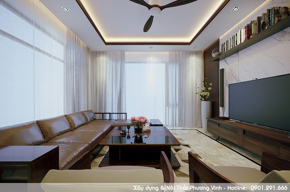 Nội thất được thi công tại xưởng gỗ của Phương Vinh tại Kiến An - Hải Phòng
