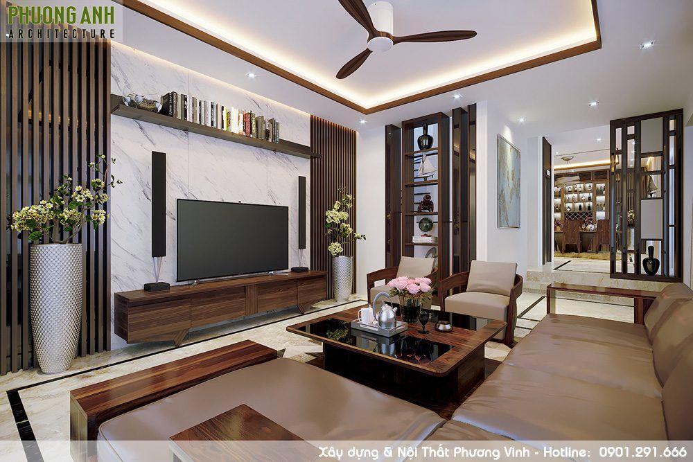 Trang trí nội thất phòng khách cân đối, hài hòa từng đường nét, màu sắc các vật dụng