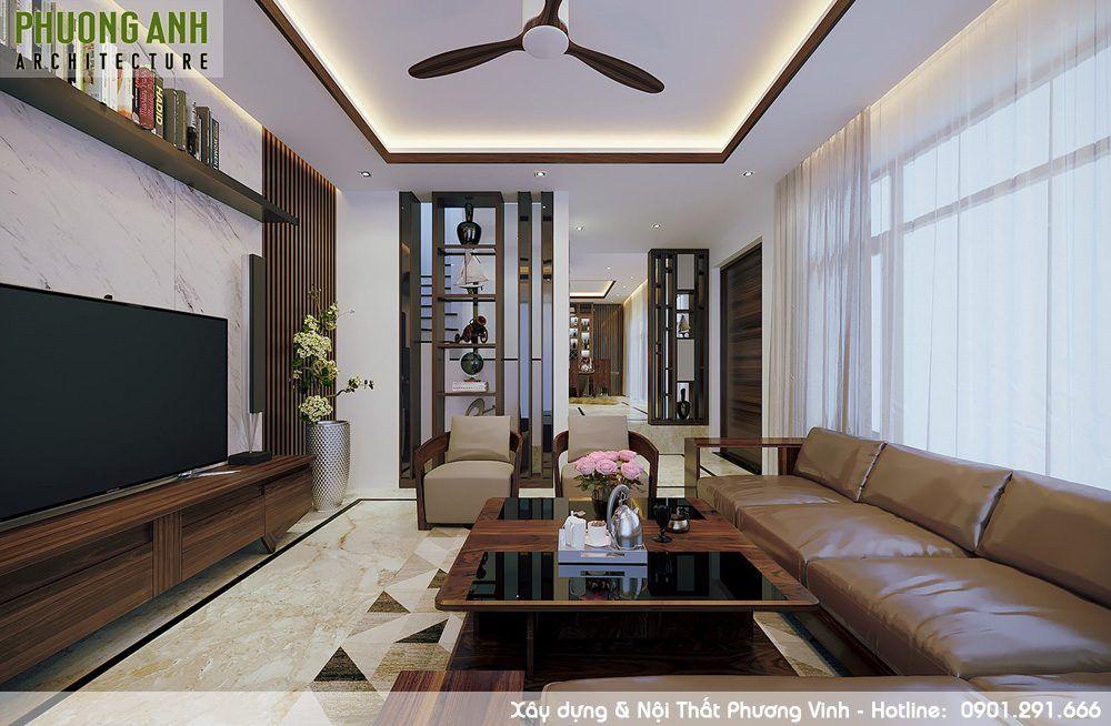 Sự hài hòa của nội thất phòng khách khiến gia chủ thoải mái khi tiếp khách thiet-ke-phong-khach-sang-trong-hien-dai