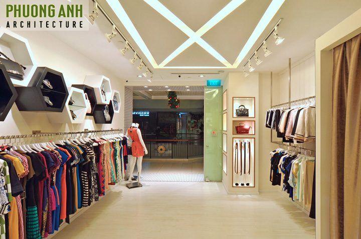 Trang trí nội thất cửa hàng quần áo nữ với những vật liệu đơn giản, đẹp