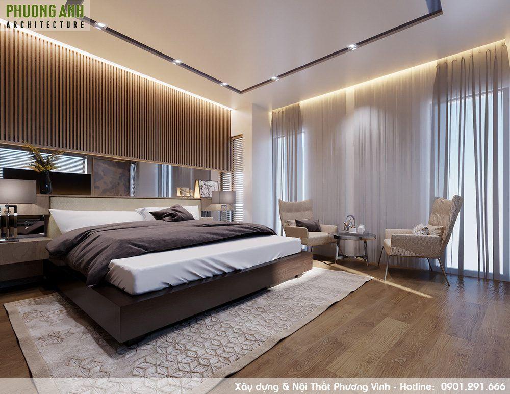 Phương án bố trí nội thất phòng ngủ hợp lý, khoa học đem lại không gian nghỉ ngơi thoải mái