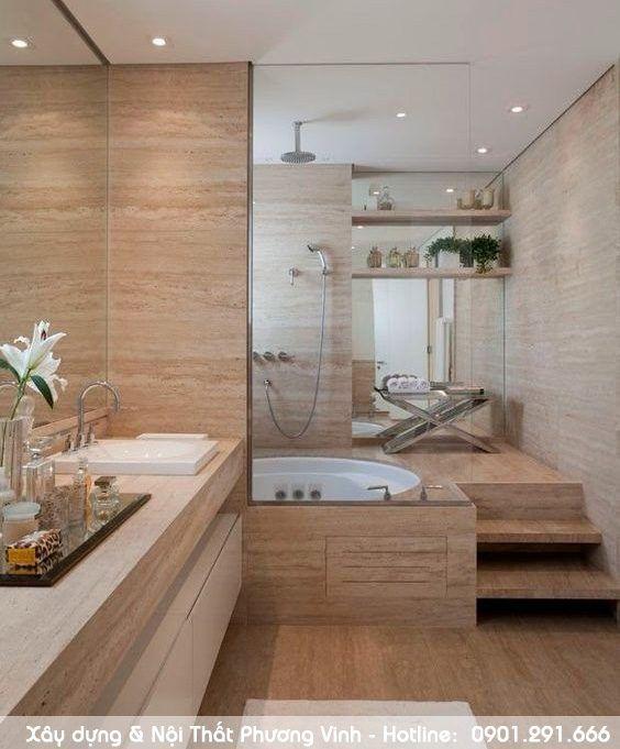 Phòng tắm hiện đại cho nhà phố