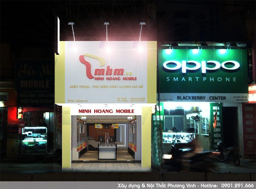 Mẫu thiết kế cửa hàng điện thoại đẹp sang trọng, được thi công nội thất trọn gói giá ưu đãi
