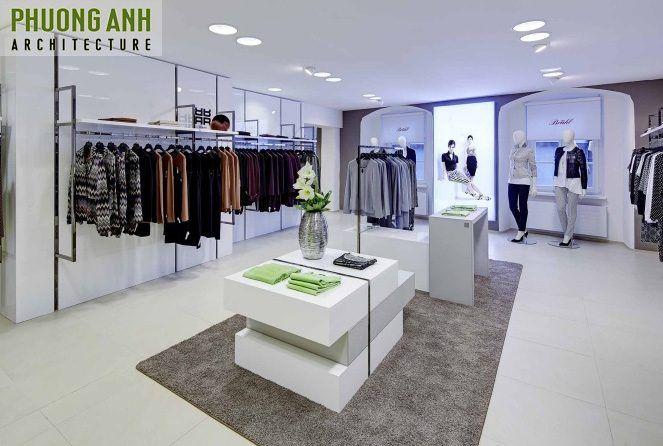 Thiết kế shop quần áo nữ đẹp hiện đại, hấp dẫn khách hàng