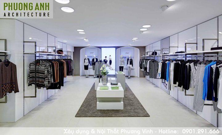 Trang trí cửa hàng quần áo đẹp với chi phí thi công nội thất rẻ.