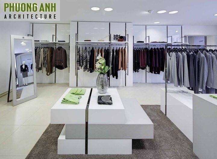 Cách trang trí nội thất shop quần áo đẹp hút khách