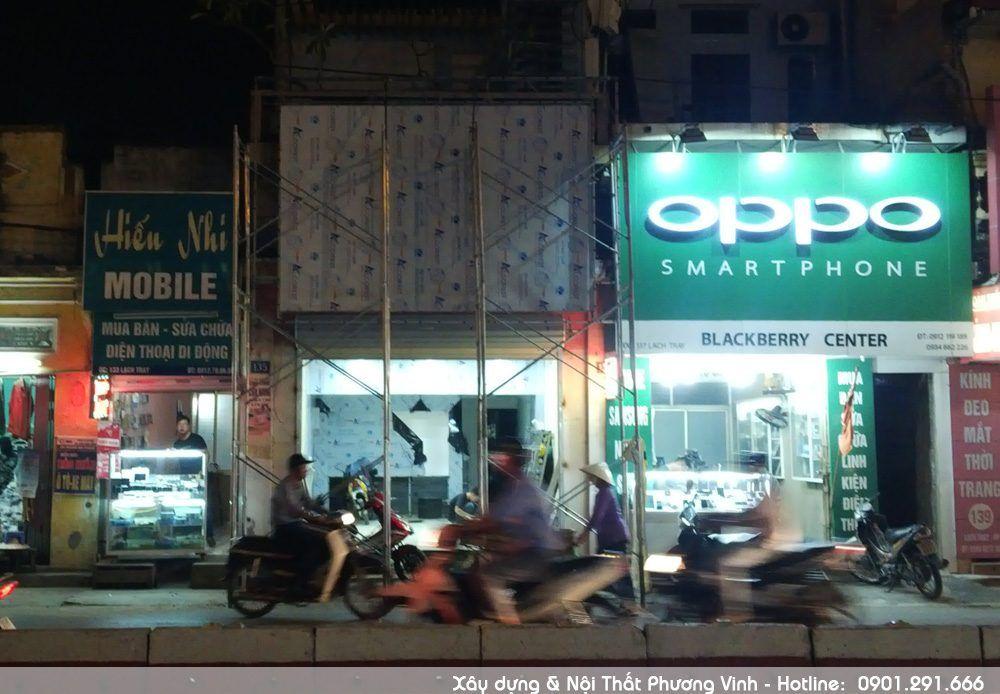 Thi công lắp biển hiệu cho cửa hàng điện thoại Minh Hoàng Mobile cong-ty-thi-cong-noi-that-tai-hai-phong-uy-tin-chat-luong