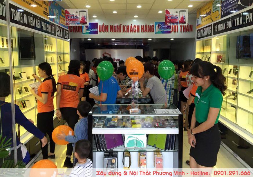 Rộn ràng ngày khai trương shop điện thoại Minh Hoàng Mobile khai-truong-cua-hang-dien-thoai-duoc-thiet-ke-noi-that-dep-noi-bat