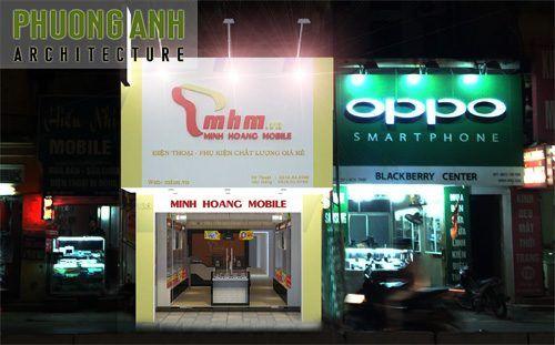 Thiết kế và thi công nội thất cửa hàng điện thoại MHM | TKS 0441