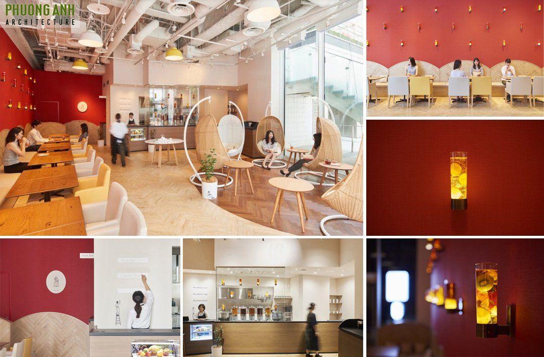 Thiết kế quán cafe phong cách hiện đại trẻ trung