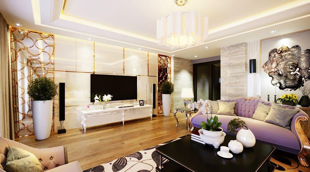 Thiết kế nội thất phòng khách đẹp tại biệt thự Vinhomes Imperia