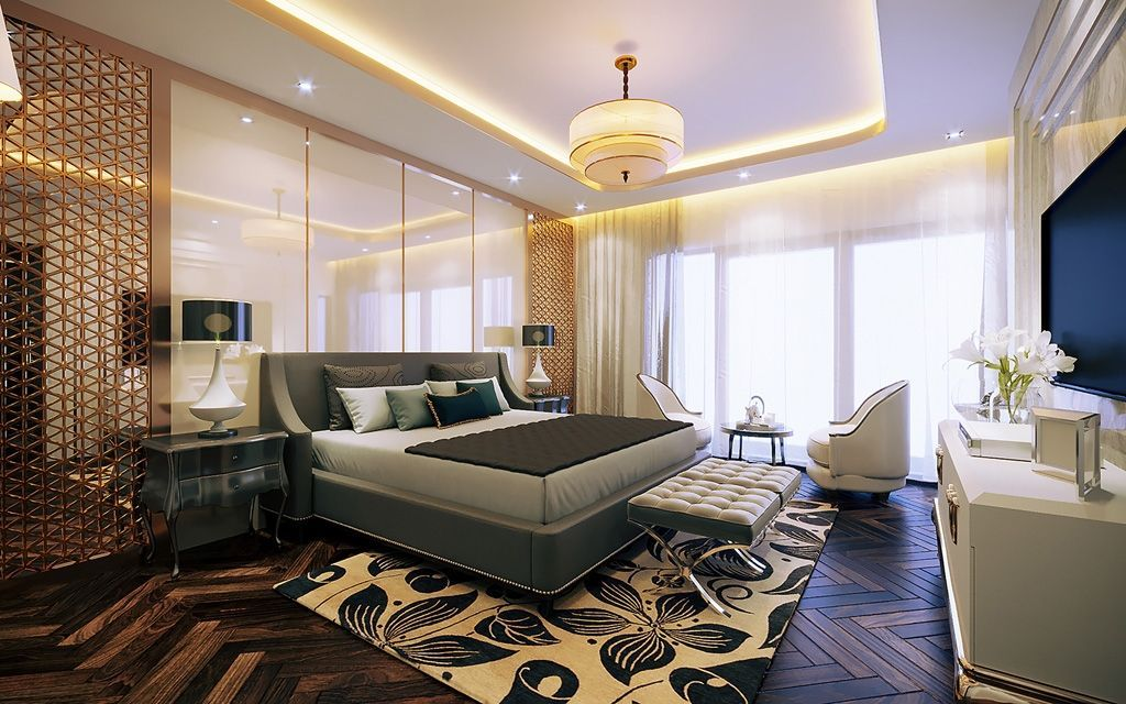 Thiết kế nội thất phòng ngủ biệt thự Vinhomes Imperia Hải Phòng đẹp sang trọng