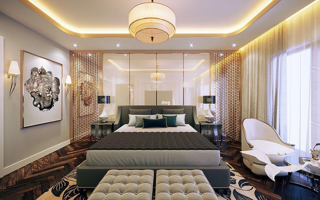Thiết kế nội thất phòng ngủ biệt thự Vinhomes Imperia Hải Phòng đẹp ấn tượng
