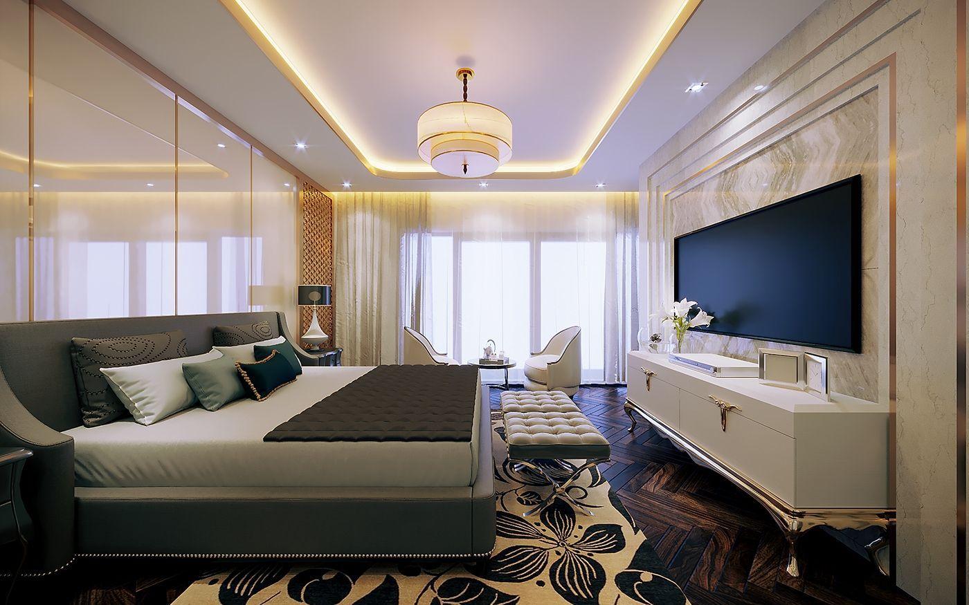 Thiết kế phòng ngủ gia chủ đẹp sang trọng tại biệt thự Vinhomes Imperia Hải Phòng