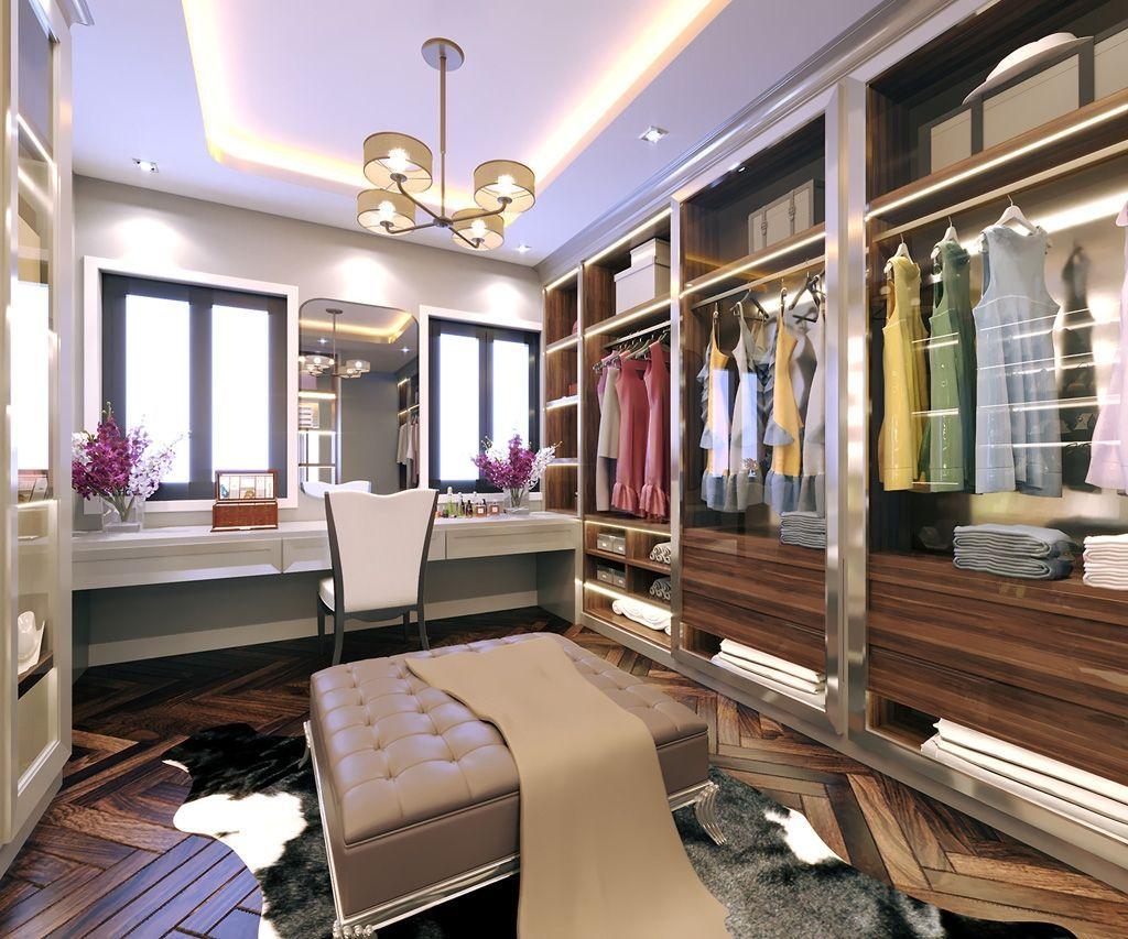 Thiết kế phòng trang điểm biệt thự Vinhomes IMperia Hải Phòng đẳng cấp sang trọng