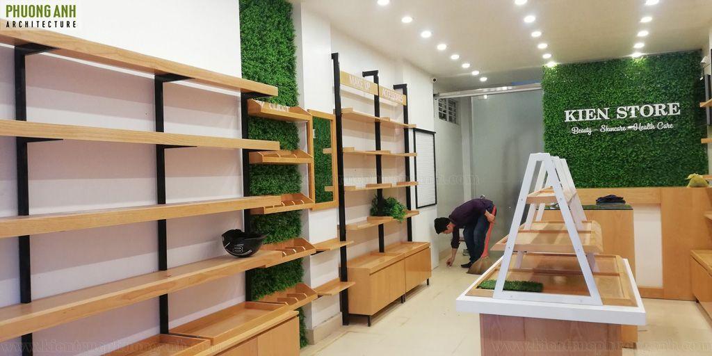 Hoàn thiện nội thất shop mỹ phẩm đẹp tại Hải Phòng