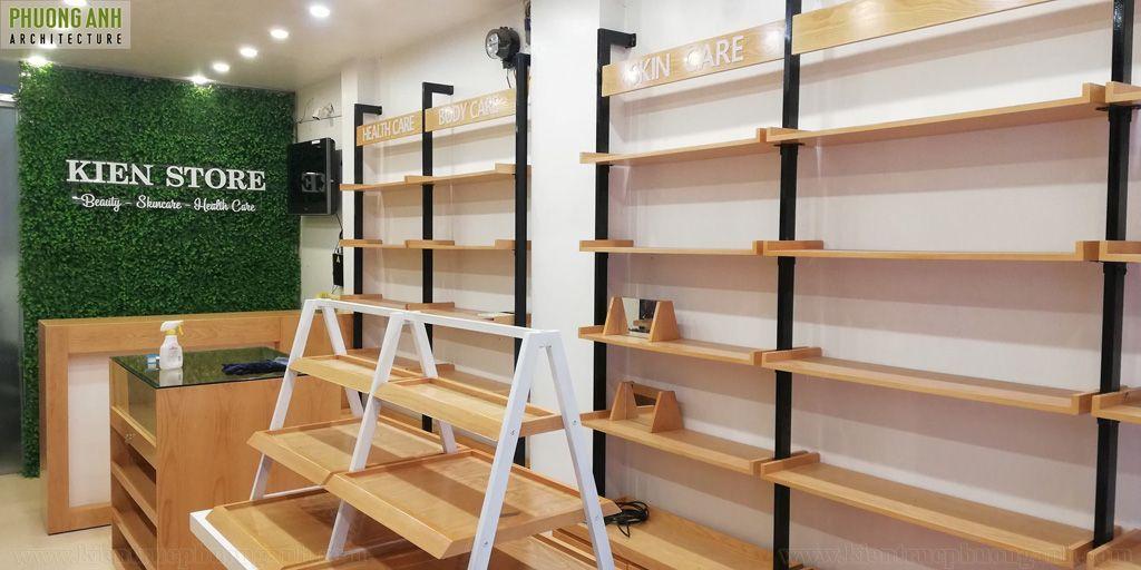 Hoàn thiện nội thất shop mỹ phẩm Kiên Store - Thi công trọn gói giá rẻ