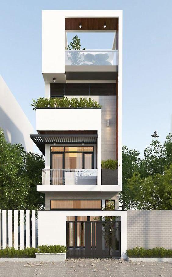 Thiết kế nhà ống 3.5 tầng đẹp với phong cách hiện đại