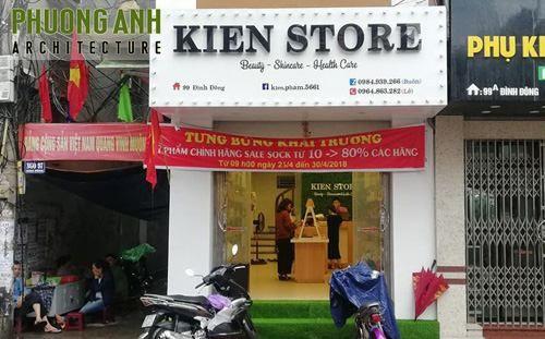 Thiết kế và thi công nội thất shop mỹ phẩm Kiên Store tại Hải Phòng
