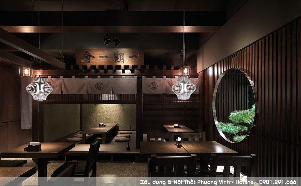 Cách trang trí sắp xếp nội thất nhà hàng Nhật Bản