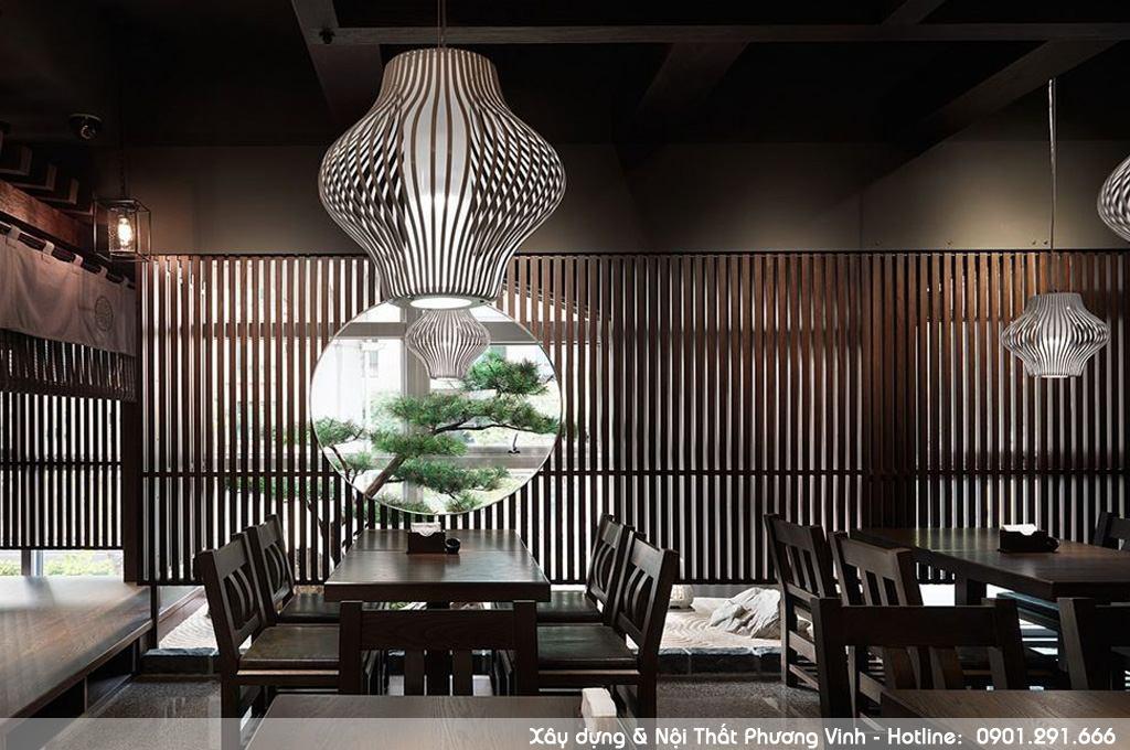 Mẫu thiết kế nhà hàng kiểu Nhật độc đáo