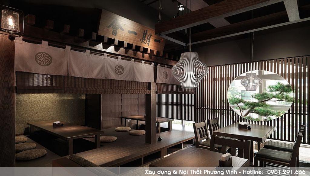 Nội thất gỗ cao cấp nhà hàng kiểu Nhật