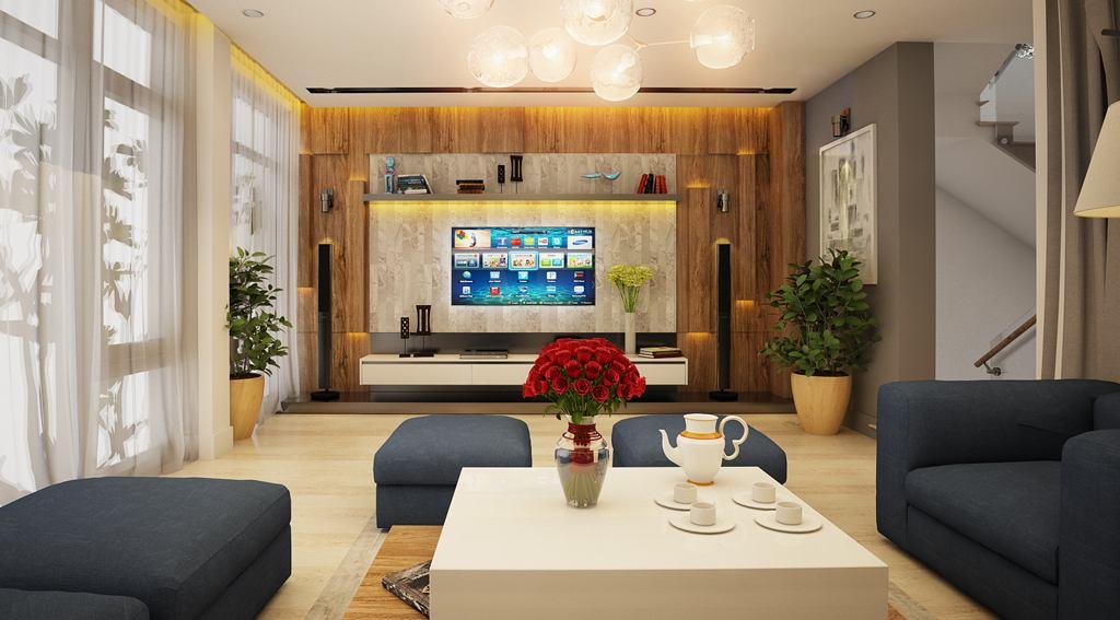 Thi công hoàn thiện nội thất phòng khách