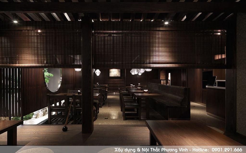Thi công nội thất nhà hàng Nhật Bản