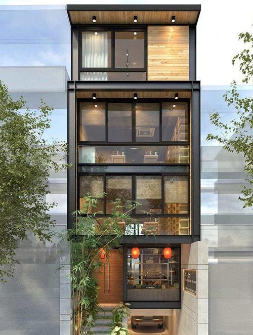 Thiết kế nhà ở kết hợp kinh doanh quán cafe, trà sữa