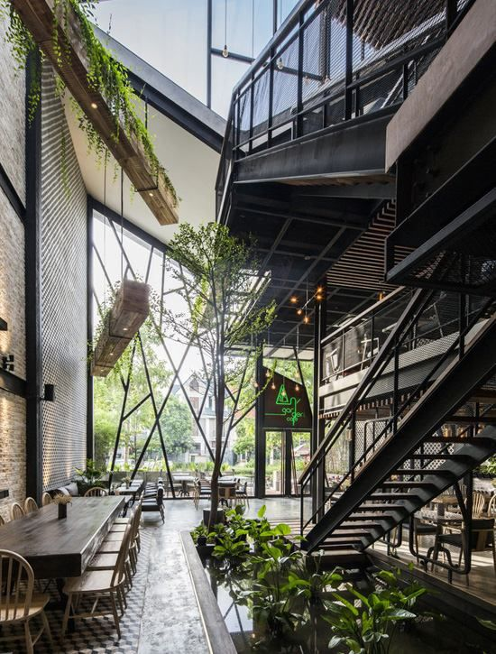 Thiết kế quán cafe đẹp độc đáo thu hút khách