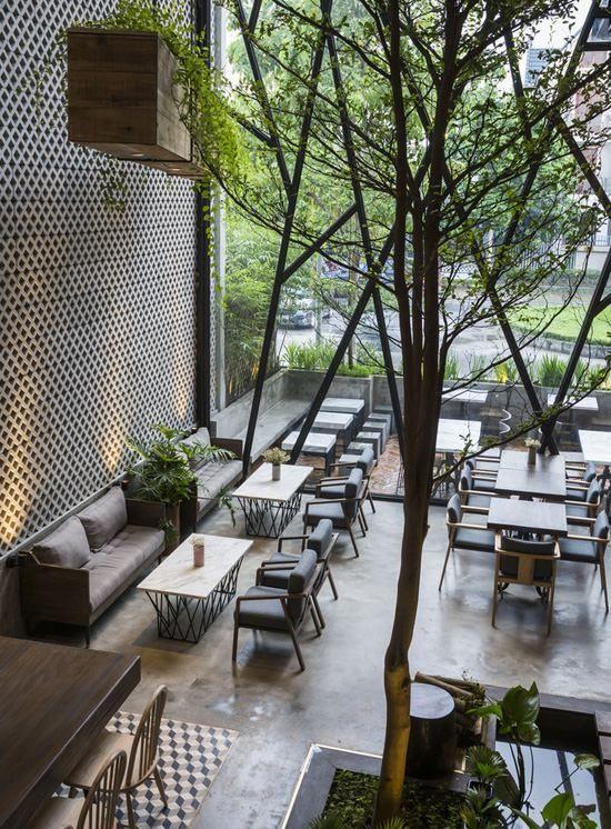 Bài trí quán cafe đẹp tại Hải Phòng
