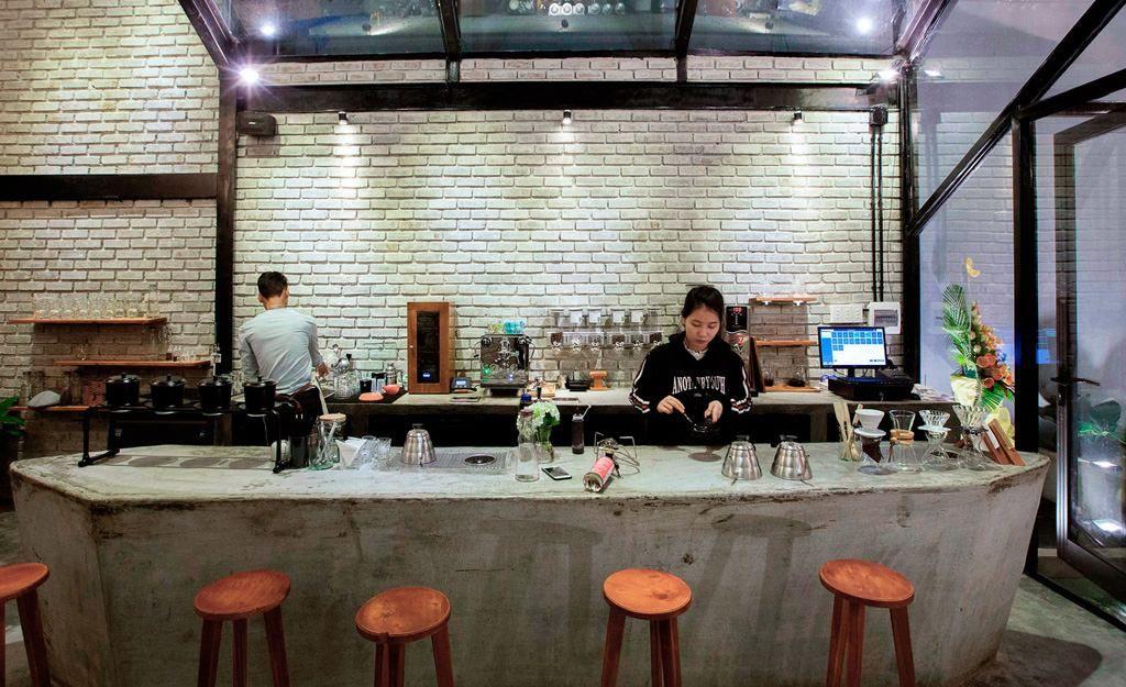 Thiết kế quầy pha chế quán cafe