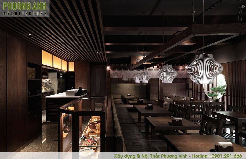 Trang trí nội thất nhà hàng Nhật Bản