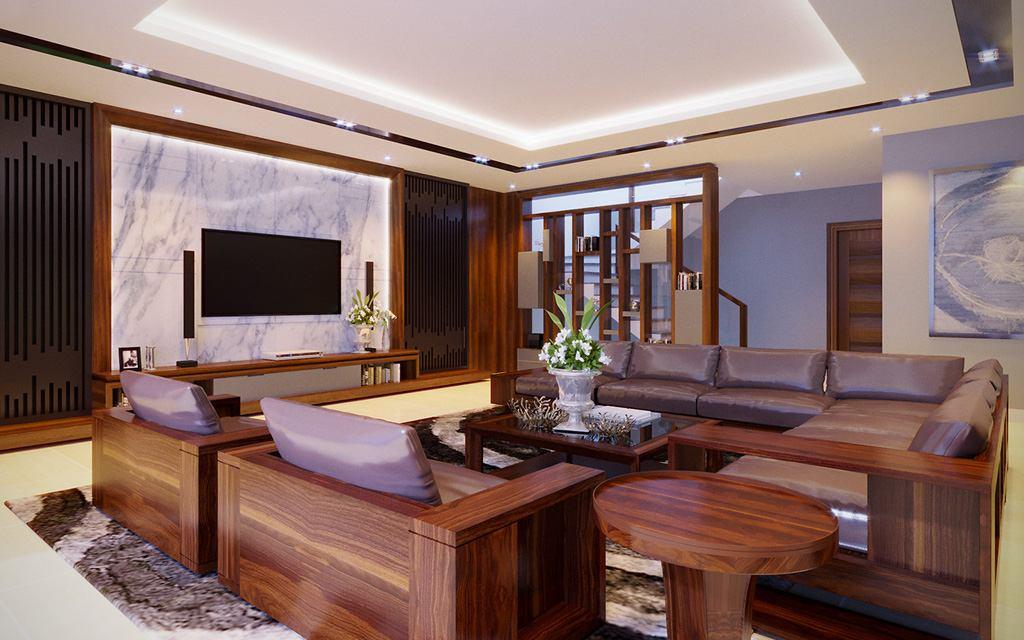 Mẫu thiết kế phòng khách đẹp tại Hải Phòng