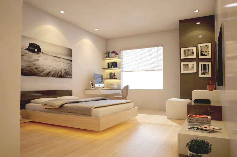 Thiết kế phòng ngủ hiện đại đơn giản được nhiều người khen ngợi