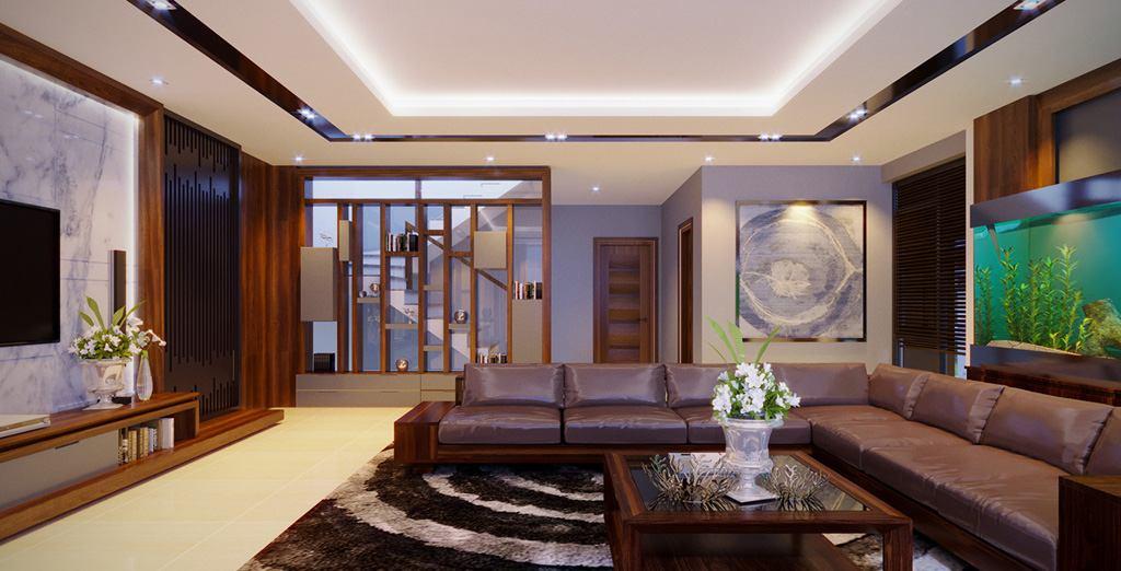 Thiết kế nội thất phòng khách hiện đại đơn giản