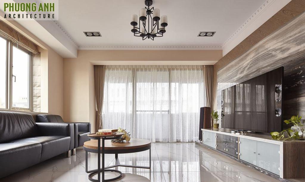 Thiết kế phòng khách chung cư Pacific Place độc đáo khiến ai cũng phải trầm trồ