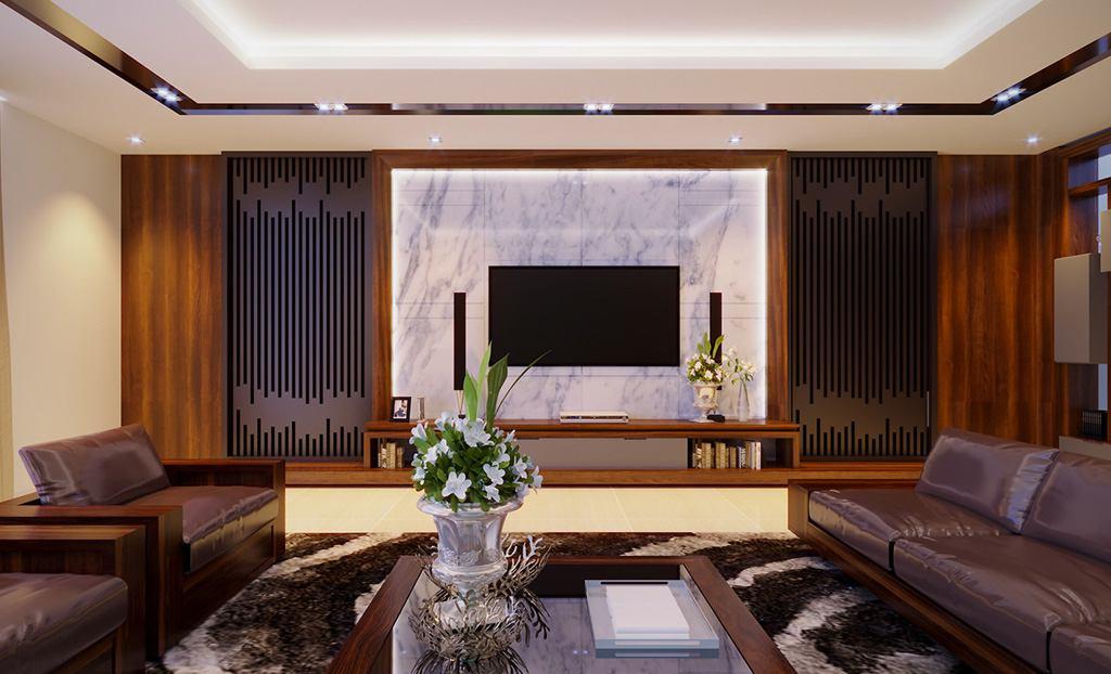 Thi công nội thất phòng khách đẹp - Thiết kế bởi Phương Vinh Architecture