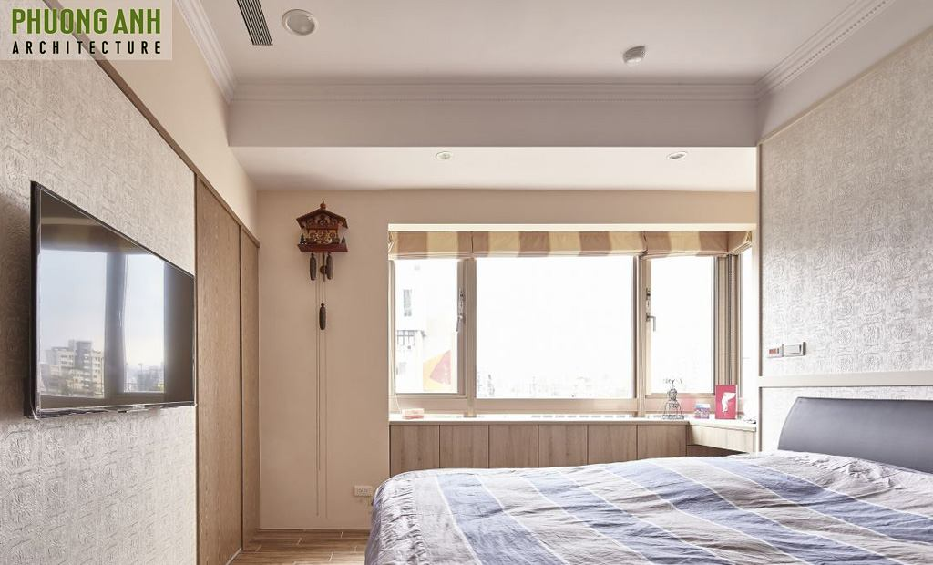 Chiêm ngưỡng mẫu Thiết kế phòng ngủ chung cư đẹp