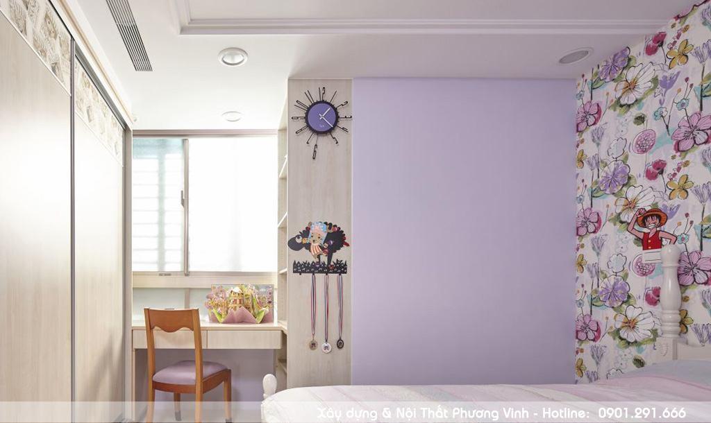 Thiết kế thi công hoàn thiện phòng ngủ trẻ em