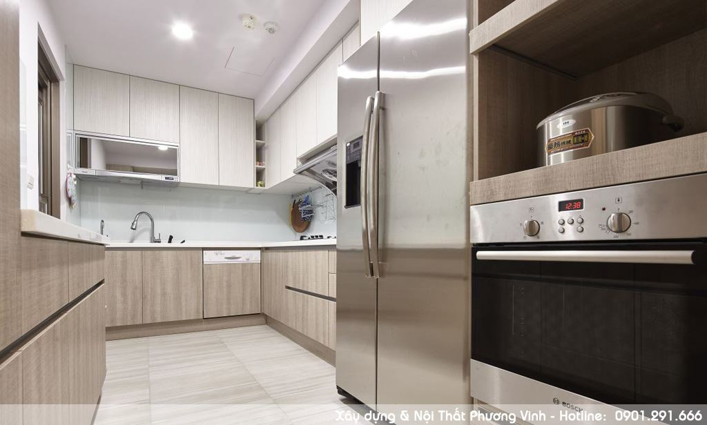 Thi công hoàn thiện nội thất phòng bếpchung cư chất lượng với giá cực sốc