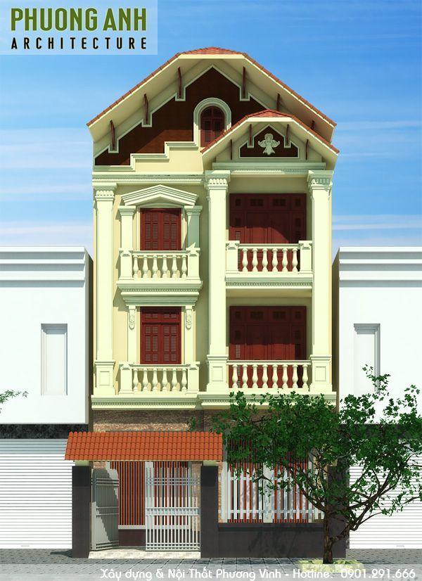 Mẫu thiết kế biệt thự tân cổ điển 3 tầng đẹp