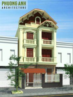 Thiết kế nhà tân cổ điển 3 tầng tại Hải Phòng